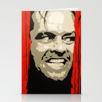 jack nicholson Stationery Cards featuring Jack Nicholson - Here's Johnny by Tipsy Monkey