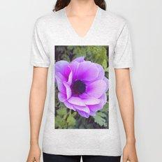 Pink Poppy Anemone I Unisex V-Neck