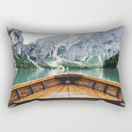 Wanderlust: Taking the Sustainable Route Rectangular Pillow