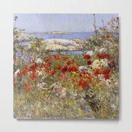 Celia Thaxter's Garden, Isles of Shoals, Maine - Childe Hassam Metal Print
