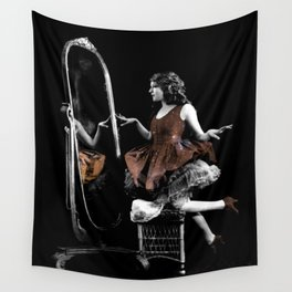 Through The Looking Glass Brown Wall Tapestry