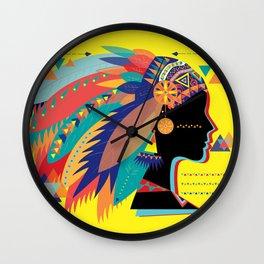 Native Indian Wall Clock