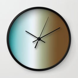 Ombre Feathers 1 Reversed Wall Clock