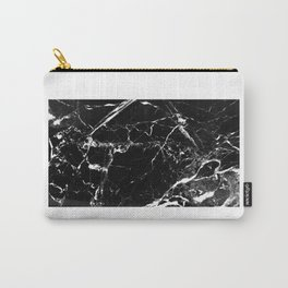 Marble Textured Print Carry-All Pouch
