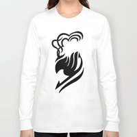 fairy tail Long Sleeve T-shirts featuring Fairy Tail Logo Laxus Version by Prince Of Darkness