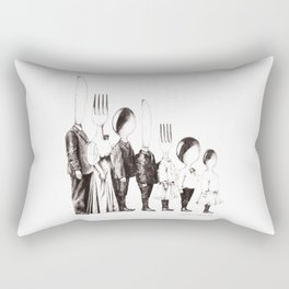 Family Portrait Line-up Rectangular Pillow