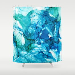 Into the Blue I Shower Curtain