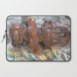 Sea, Rust and rope, Highlands of Scotland Laptop Sleeve