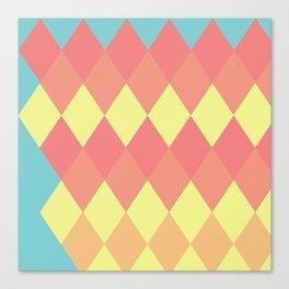 Geometric Summer Pastel Art Canvas Print