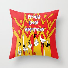 Proud Deaf American Throw Pillow
