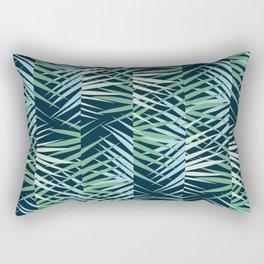 Areca Palm Leaves Stripe Rectangular Pillow