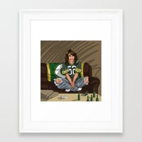 packers Framed Art Prints featuring Packers girl by Flocco