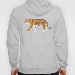 Tiger Trendy Flat Graphic Design Hoody