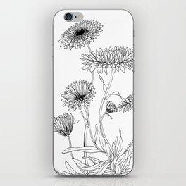 Calendula Flowers iPhone Skin