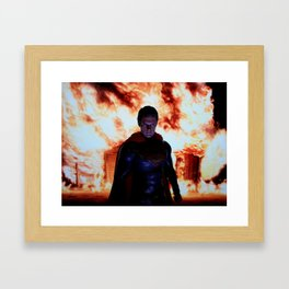 THE MAN OF STEEL  Framed Art Print