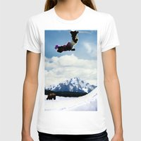 ski T-shirts featuring ski Mountain by Colton