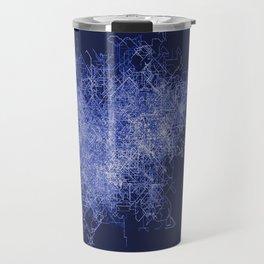 Diagrammatic Blue Graphic Travel Mug