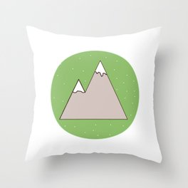 Green Mountain Throw Pillow
