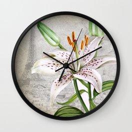 Macro Flower #3 Wall Clock