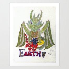 Earth Dragon Art Print