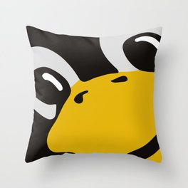 Linux tux Penguin eyes Throw Pillow