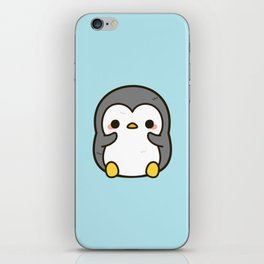 Shy penguin iPhone Skin