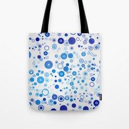 Rain of blue circles Tote Bag