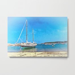 Anchored at the Scillies Metal Print