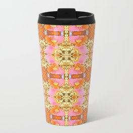 Pink & Orange Poppy 4B Metal Travel Mug