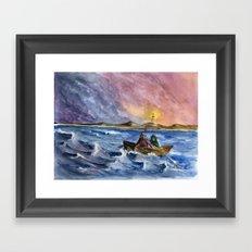 Storm Chased Framed Art Print