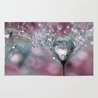 sparkles Area & Throw Rugs featuring Rasberry Sparkles by Sharon Johnstone