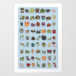 The creatures dictionary Art Print