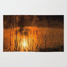 Sunrise at the lake /Sonnenaufgang am See Rug