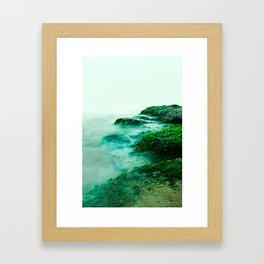 Green Waterscape Framed Art Print