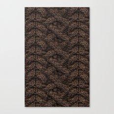 Brown Haka Cable Knit Canvas Print