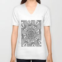 kaleidoscope V-neck T-shirts featuring Kaleidoscope by Michalacaney
