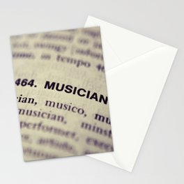 464. Musician Stationery Cards