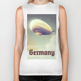 Germany Blimp vacation poster Biker Tank