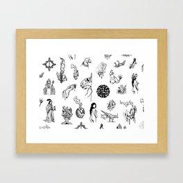 Tattoo Mix Framed Art Print