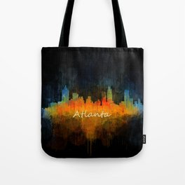 Atlanta City Skyline UHq v4 Tote Bag