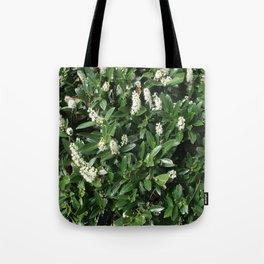 green/white Tote Bag