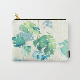 Tropical Leaves Collab. Dylan Silva Carry-All Pouch
