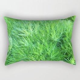 Dianthus Green Trick Rectangular Pillow