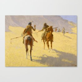 """Frederic Remington Western Art """"The Parley"""" Canvas Print"""