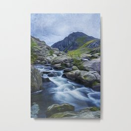 Tryfan Painting Metal Print