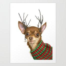 What Do You Mean Santa's Got Enough Reindeer? Art Print