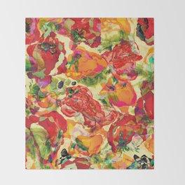 Peppers and Tomatoes Throw Blanket