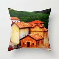 italian Throw Pillows featuring ✔️Italian Farmhouse by Nadia Bonello - Trū Artwear