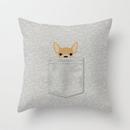 Pocket Chihuahua - Tan Throw Pillow