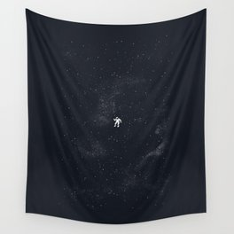 Gravity - Dark Blue Wall Tapestry